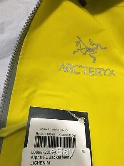Arc'teryx Alpha Fl Veste Taille Homme Medium Nouveau Avec Des Étiquettes Color- Lichen
