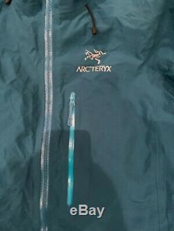 Arc'teryx Alpha Mens Fl Jacket- Taille M- Iliad Bleu- Goretex Pro Marque Nouveau