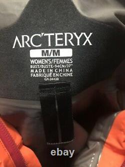 Arc'teryx Alpha Sl Femmes Pluie Veste Imperméable Mango Tango Medium Euc Goretex
