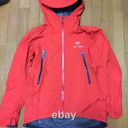 Arc'teryx Alpha Sl Jacket Hoody Size M Red-color Usedgood Condition Du Japon