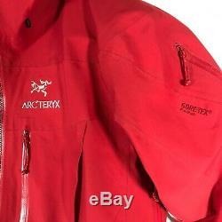 Arc'teryx Alpha Sv Gore-tex Pro Shell Hooded Jacket Mens Candy Apple Red M Medium
