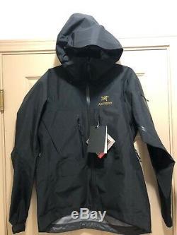 Arc'teryx Alpha Sv Gore-tex Pro Veste Homme Moyen 24k Noir Fabriqué Au Canada
