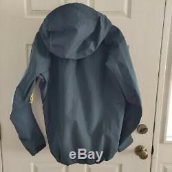 Arc'teryx Alpha Sv Goretex Pluie Pro Jacket Mens Gris Moyen En Nylon À Fermeture Éclair Avec Capuche