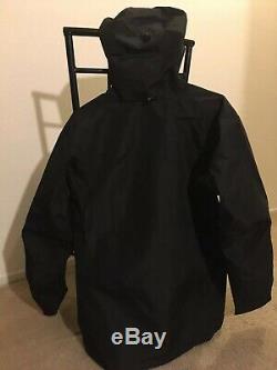 Arc'teryx Alpha Sv Hommes Noir Mi-veste Tn-o, Fait Au Canada, Pdsf 750 $ Nr