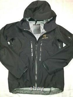 Arc'teryx Alpha Sv Jacket Homme Moyen 24k Noir 18082 Nouveau Avec Tags