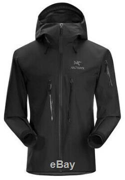 Arc'teryx Alpha Sv Jacket (main Gauche Zipper Blem), Medium, Bnwt, Noir