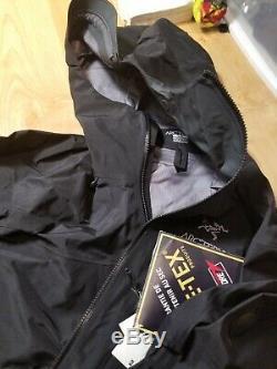 Arc'teryx Alpha Sv Veste -2019 Moyen Noir Pro Shell 750 $ Tn-o