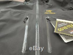 Arc'teryx Alpha Sv Veste / 24k Noir Mi-homme (retails 799 $)