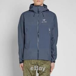 Arc'teryx Beta Sl Gore-tex Jacket Mens Taille Moyenne Imperméable Bleu Pluie Ar Alpha