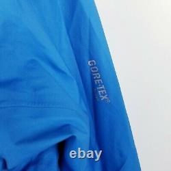 Arc'teryx Femme Alpha Fl Goretex Hooded Jacket Medium M Blue Colorblock