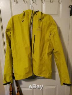 Arcteryx Alpha Fl Jacket Mens Medium Jaune Légèrement Utilisé