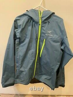 Arcteryx Alpha Sl Goretex Rain Jacket Medium, Smoke Blue Mens