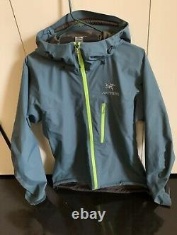 Arcteryx Alpha Sl Goretex Rain Jacket Moyen, Smoke Blue Mens