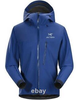 Arcteryx Alpha Sl Jacket Hommes Gore Tex Waterproof Navy Blue Medium