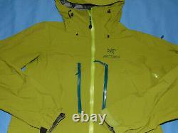 Arcteryx Alpha Sv Gore-tex Pro Saguaro Veste À Capuche Verte M Fabriqué Au Canada