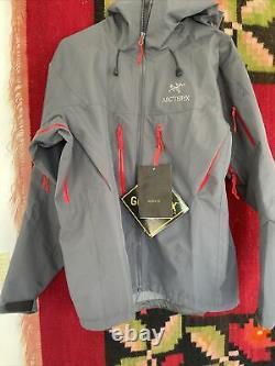 Arcteryx Alpha Sv Jacket Gore-tex Pro Medium (gris/rouge). Nouveau