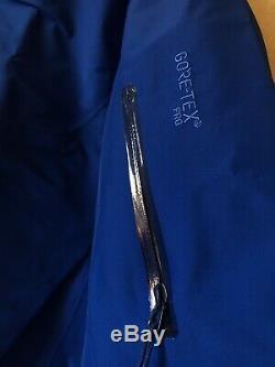 Arcteryx Alpha Sv Veste Gore-tex Pour Hommes Bleu Moyen Stellaire Nwt Fabriqué Au Canada