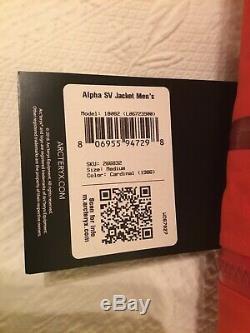 Arcteryx Alpha Sv Veste Homme Gore Tex Medium Pro Nwt Cardinal