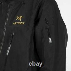 Arcteryx Alpha Sv Veste Homme Noir 24k Taille Moyenne Nouveau Avec Des Étiquettes