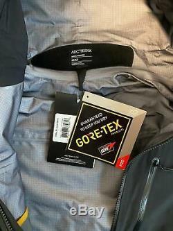 Arcteryx Alpha Sv Veste Hommes Or Noir Taille 24k Moyen Avec Tags Nouveau