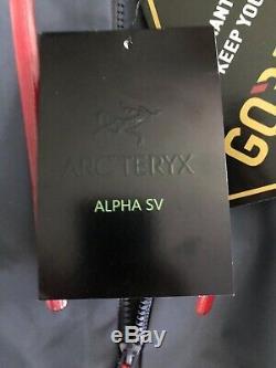 Arcteryx Alpha Sv Veste Mens Moyen Goretex Shell Noir