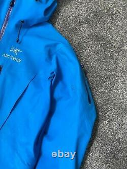 Arcteryx Alpha Sv Veste Veste Brise-vent Bleu Moyen Rare