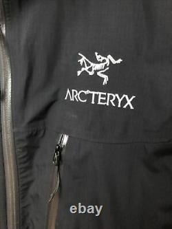 Arcteryx Mens Alpha Sl Noir Full Zip Shell Jacket Taille Moyenne
