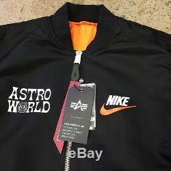 Astroworld Tour Alpha Industries Bomber Jacket Travis M Suprême Ftp Scott