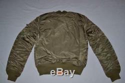 Authentique Alpha Industries Hommes Ma-1 Slim Fit Flight Jacket Olive M Medium Nouveau