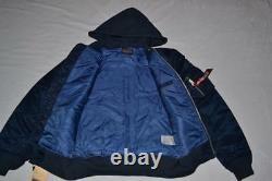 Authentique Alpha Industries Mens Ma-1 Natus Hood Flight Jacket Blue 2xl Nouveau