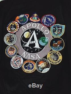 Authentique Alpha Industries Mens Veste De Vol Apollo Ma-1 Nasa Moyen