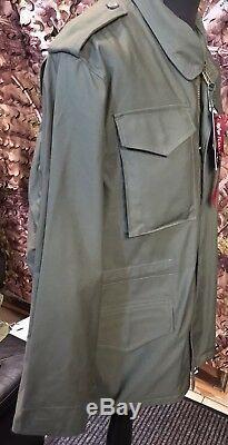 Authentique Veste De Campagne Pour Temps Froid Alpha Industries Olive Green M-65 Taille Moyenne
