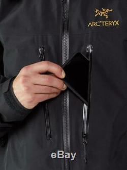 Avec Des Étiquettes Arc'teryx Alpha Sv Noir 24k Jacket = Mens Medium