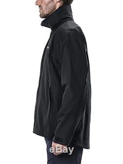 Berghaus Rg Alpha Veste Imperméable Pour Hommes En Plein Air Manteau À Capuchon Noir, Moyen