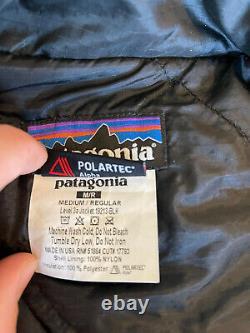 Bleu! Patagonia Mars Niveau 3a Alpha Polartec Veste / Blac- Homme Moyen