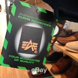 Blouson Aviateur Authentique Alpha Industries Flight Cwu 45 Rep Blue