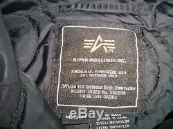 Blouson Aviateur En Nylon Noir Flight Vintage Alpha Industries Pour Hommes, Taille Medium