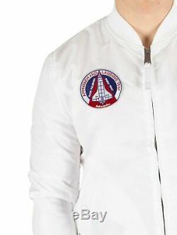 Blouson Aviateur Réversible Nasa Pour Hommes Alpha Industries, Blanc