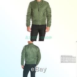 Blouson Aviateur Style Ma-1 Slim Fit Pour Homme Alpha Industries Sage Medium