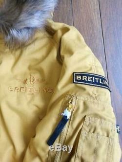 Breitling Nouveauté Alpha Industries Veste À Capuche Manteau Jaune Taille M Japon F / S