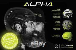 Casque Warrior Alpha One Pro Avec Gitter Profi Eishockeyhelm Noir Avec Casquette
