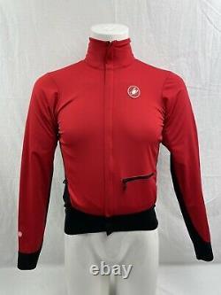 Castelli Alpha Gore Windstopper Fleece-lined Red Cycling Jacket MD