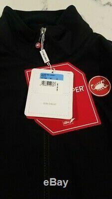 Castelli Alpha Ros Jersey Veste-rosso Corsa Hommes, Medium, Noir, Avec De Nouvelles Balises