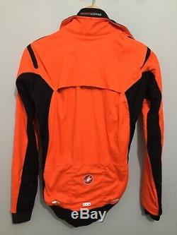Castelli Alpha Ros Veste Orange Moyen Rrp £ 280
