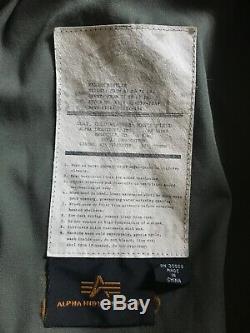 Complet Alpha Industries 50e Anniversaire Champ Olive M-65 Manteau Veste Homme