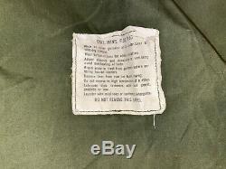 Époque Du Vietnam M65 Champ Veste Od Green Med Reg 1968 Alpha Industries Us Army