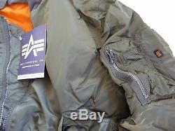 Fabriqué Aux États-unis Ma-1 Alpha Industries Blouson De Pilote Pilote De L'armée Américaine Fabriqué Aux États-unis