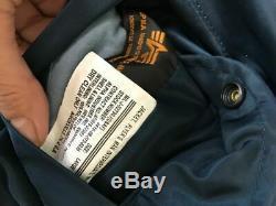 G. I. Usaf Ma-1 Flyers Bleu Veste Par Alpha Industries, Made In USA