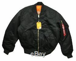 Guns N Roses Concrete Jungle Nyc Alpha Flight Jacket Ind Ma-1 Manteau Officiel New