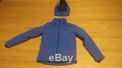 Helly Hansen Alpha 3.0 Jacket Hommes Olympian Bleu Avec Accents Rouges Moyen